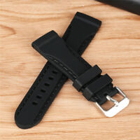 Silicone Rubber Watch Strap Band Waterproof Diver Watch Band Belt 20/22/24mm