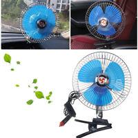 "12V 8"" Car Truck Dashboard Portable Cooling Fan With Clip Cigarette Lighter Plug"
