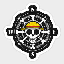Luffy Compass Logo Anime Vinyl Wall Decal Room Phone Decor Sticker