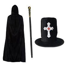 Nero Halloween Gothic Silver Cross Cappello, con cappuccio poliestere CAPE & CANNA / personale