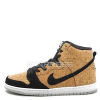 Nike Dunk High Premium SB [313171-026] Skateboarding Cork Black/Hazelnut-White