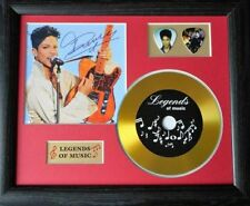 Prince Preprinted Autograph, Gold Disc & Plectrum Presentation