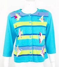 Berek Angel Fish Embellished Cardigan Sweater Size Medium NEW