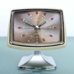 Rhythm Uhr Wecker Kaminuhr Retro Vintage Standfuß N.R. 51136 Japan Sammlerstück
