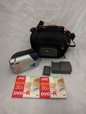 Canon DC310 DVD Camcorder w/ Battery, Charger & 2 New Discs