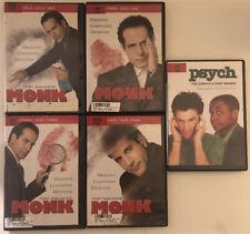 Monk - Season 3 (Dvd, 2005, 4-Disc Set) Bonus Dvd: Psych the complete 1st season