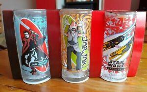 Star Wars, Drinks Glasses, Set Of Three, Collectors, Rare, BNIB