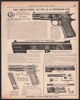 1939 COLT Service Model Ace shown w/available .22 .45 conversion unit Pistol AD