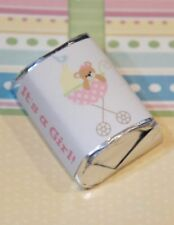 30 Baby Shower Its a Girl Stroller Bear Hershey Candy Nugget Wrappers Stickers
