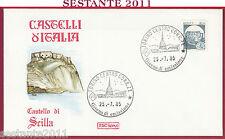 ITALIA FDC ROMA CASTELLO DI SCILLA 1985 ANNULLO TORINO U72