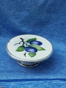 Doll Kitchen Accessory Vintage Porcelain and metal Cake Stand