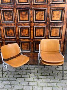 3x Castelli Piretti Stacking Chair Holz Wood Vintage Designer Chair Stuhl SALE