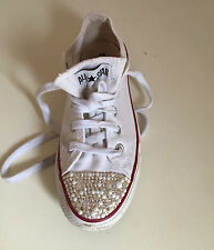 CONVERSE ALL STAR GLITTLER TRAINERS LADIES SIZE UK4