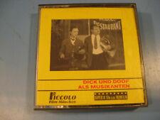 8 mm Film Comedy/Slapstick Dick und Doof als Musikanten-Antique Comedy Films
