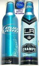 2012 NHL L-A KINGS STANLEY CUP ICE HOCKEY BUD LIGHT ALUMINUM BOTTLE BEER CAN CA