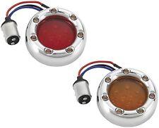 Red LED Fire Ring Kit by Arlen Ness 12-745 Harley Bullet Housing Single Rear