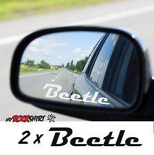VW Beetle 2 x Aufkleber aus Milchglasfolie Frost Gravuroptik Gravur Sticker  Aus
