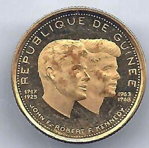Guinea 1000 Francs 1969 Gold Proof (John Kennedy)