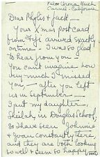 1927 Handwritten Letter to Mr. J Ainsworth Morgan Writer