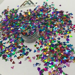 4mm DISNEY MICKEY MOUSE RAINBOW MULTICOL GLITTER NEW SEQUINS HAIR FACE BODY NAIL