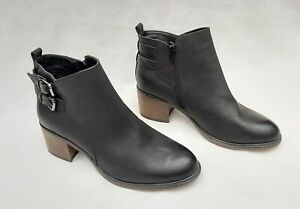 MARKS & SPENCER BLACK FAUX LEATHER CHELSEA BOOTS UK5.5 EU39 NEW RRP £45 FREE P&P