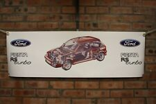 ford fiesta MK3 RS Turbo  large pvc banner  garage   classic show banner