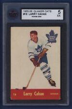 1955-56 Quaker Oats Larry Cahan (rc) #16 KSA 5 EX Toronto Maple LEAFS !!