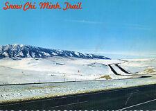 postcard USA Wyoming Snow Chi Monh Trail  Elk Mountain   unposted