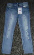 NWT Junior Girls Almost Famous Mid-Rise Roll-Up Jeans Size 11