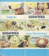 Entdecke Südafrika neuer Reisehorizont South Africa brochure Prospekt um 1970