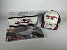 2011 Brad Keselowski #22 Discount Tire Die Cast Car 1:24 Signed Hat-Flag Banner