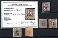 T4241/ GERMANY – HAMBURG – MI # 6 – 10 / 12 USED SIGNED – CV 250 $