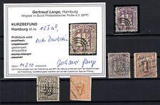 T4241/ GERMANY – HAMBURG – MI # 6 – 10 / 12 USED SIGNED – CV 250 $