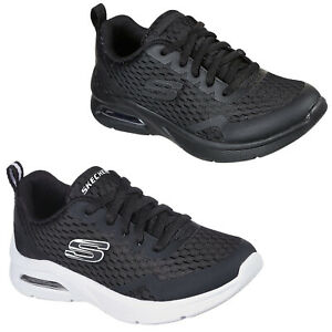 Skechers Athletic Boys Trainers Black Sports Comfort Memory Foam School Shoes