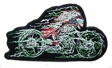 SKELETON W FEATHER BONNET MOTORCYCLE PATCH P8200 NEW jacket BIKER EMBROIDERIED