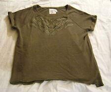 Bluse,H&M,L.O.G.G.,Gr. XL,olivgrün,Mischgewebe: 80% Baumwolle,20% Polyester