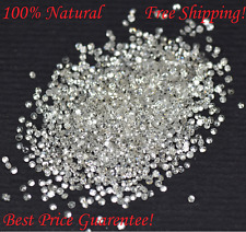 10.00 Cts Round Cut Genuine Natural Diamonds Wholesale Lot 0.60 MM-1.25 MM