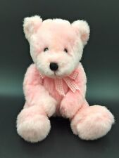"""Pink Teddy Bear With Ribbon 8"""" High Sitting Comforter Soft Toy -Funky Bears"""