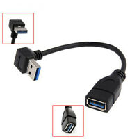 90 Degree Extension Cord Down Angled Male A To Female A USB 3.0 Adapter Cable