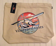 "Vineyard Vines ""Sea Plane"" Tote Bag - Boat, Shopping, Travel, Storage, Beach"