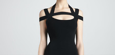 $495 NWT Michael Kors Collection crisscross strappy Top black S XS