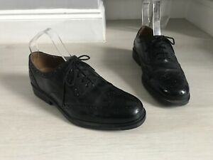 Mens Clarks Black Leather Oxford Lace Up Formal Shoes Size 7 Extra Wide Fit