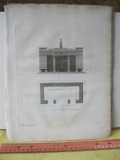 Vintage Print,GARDEN REST IN ROMAN TASTE,Ideen Magazine,Gardne Follies,1797