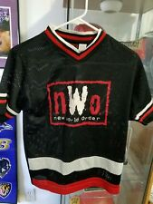 WCW NWO Red and White Jersey & red/black  t-shirt  Vintage