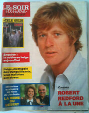Le Soir illustré du 19/05/1988 Robert Redford / Interview Noor de Jordanie