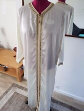 Cream Macaroon Moroccan Simple Kaftan