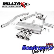 "Milltek Civic Type R FK8 Cat Back Exhaust 3"" RACE Non Res Polish GT-100 SSXHO252"