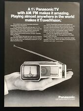 1980 Vintage Print Ad PANASONIC Tv Small Home Electronics