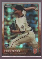 ERIK CORDIER SAN FRANCISCO GIANTS ROOKIE PRISM REFRACTOR RC 2015 TOPPS CHROME