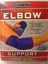 Lot of 2 Franklin Adjustable Elbow Elastic Support One Size Fits Left & Right